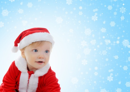 Cheerful boy in Santa Claus hat Stock Photo - 11342733