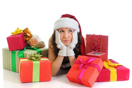 Christmas Smiling Woman Stock Photo - 11342942