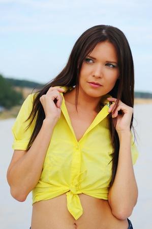 beautiful woman on the beach Stock Photo - 11342977