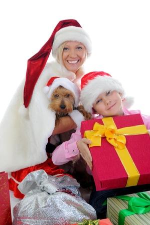 Cheerful boy in Santa Claus hat Stock Photo - 11343207