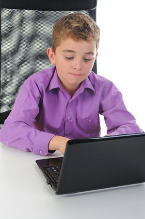 boy at the computer photo