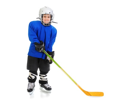 patinaje sobre hielo: Little Boy jugador de hockey