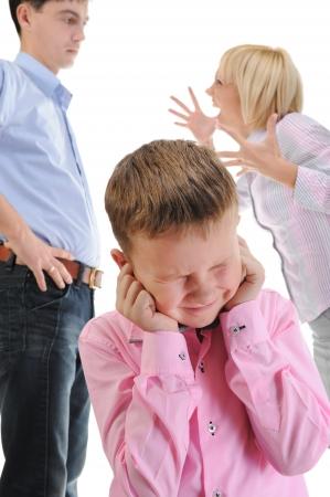 combattimenti: I genitori partecipano bambino.