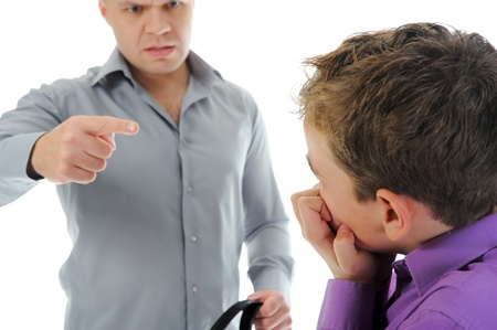 Strict father punishes his son Stock Photo - 11361025