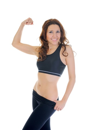 woman fitness: Fille de remise en forme.