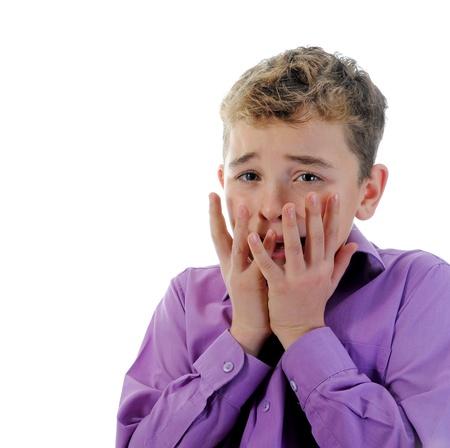 scared face: Scared Little Boy