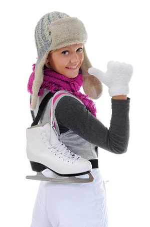 Girl with skates Stock Photo - 11360670