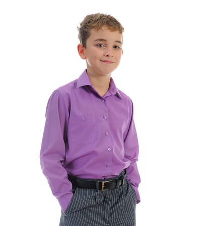 Boy in a business suit photo