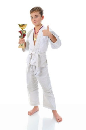 judo: Chico joven karate formación