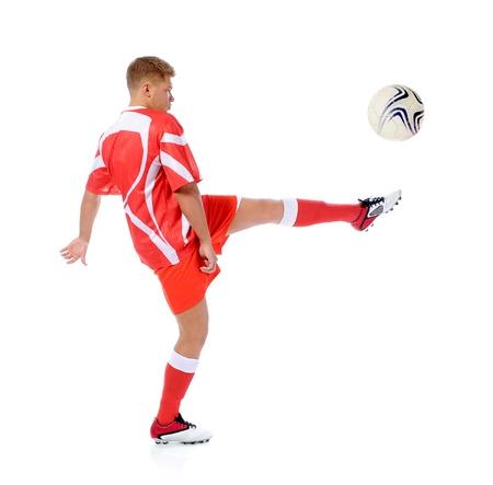 boy ball: Footballer player