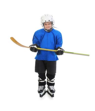 ice hockey player: Little Boy Hockey Player