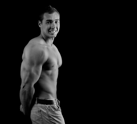 Bodybuilder showing his muscles Stock Photo - 13587895