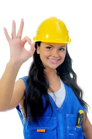 reparaturen: Sch�ne junge Frau macht Reparaturen Lizenzfreie Bilder