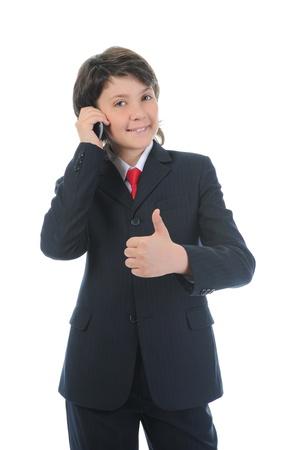 boy talking on the phone  photo