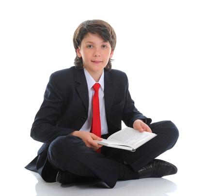 boy book: little boy reading a book