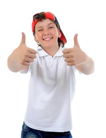Portrait of emotionally boy  photo