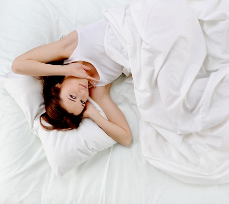 woman sleeping on the bed Stock Photo - 13932720