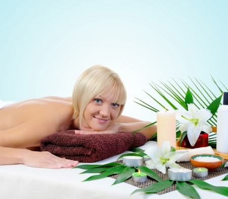 Young woman at spa procedure Stock Photo - 13932624