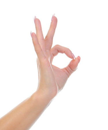 Hand OK sign photo