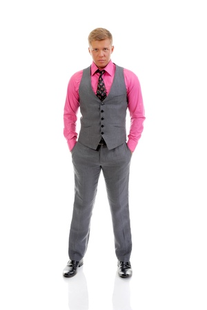vest: Portrait of a handsome young man Stock Photo
