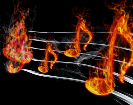classical style: burning music