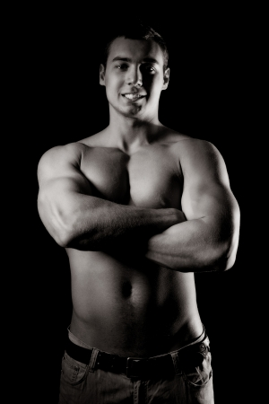 Bodybuilder showing his muscles Stock Photo - 15077030