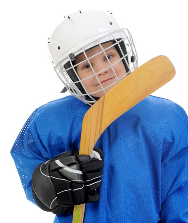 child protection: Little Boy Hockey Player