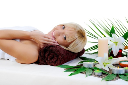 dayspa: Young woman at spa procedure