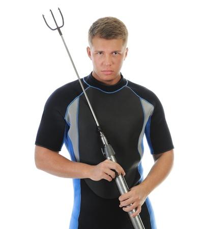 underwater hunter in full  equipment Stock Photo - 14009595