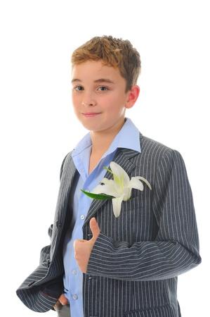boy with flower photo