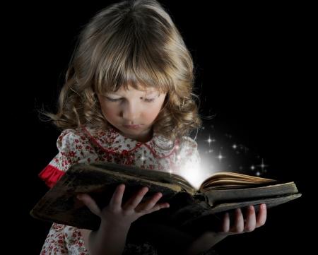 Teen girl reading the Book Stock Photo - 14023854