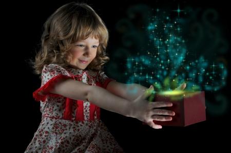 gift in magic packing Stockfoto