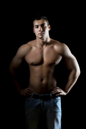 Bodybuilder showing his muscles Stock Photo - 14094363