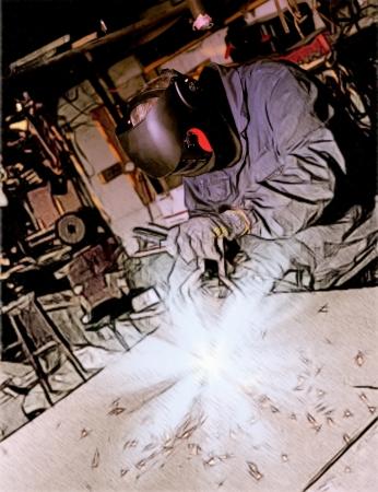 workplace safety: welder man