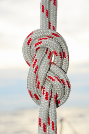 rope tied in a knot photo