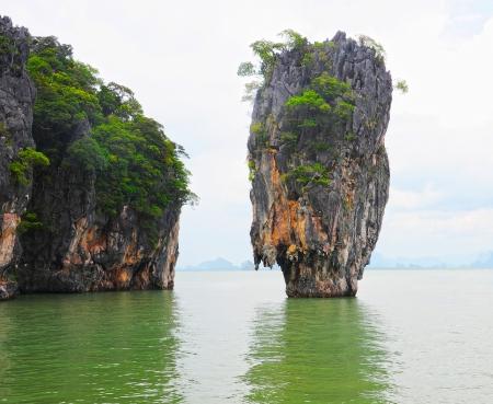 james bond: James Bond island in thailand Stock Photo