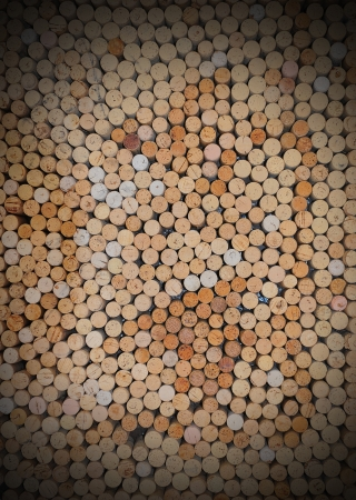 staggered: Wine Bottle Corks Stock Photo