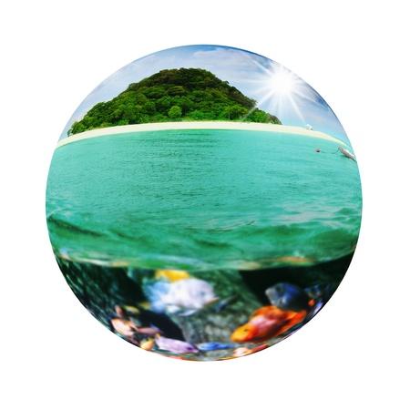 Sunny tropical beach on the island Stock Photo - 18617801