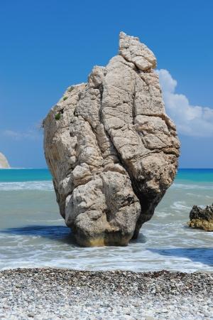 afrodita: Mar del lugar de nacimiento de Afrodita roca