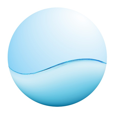 clean water: Blue sea wave Stock Photo