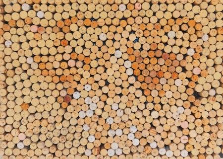 multiple stains: Wine Bottle Corks Stock Photo
