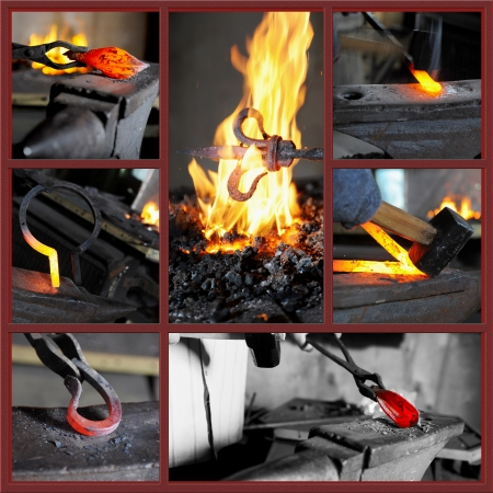 anvil: Incandescent element in the smithy Stock Photo