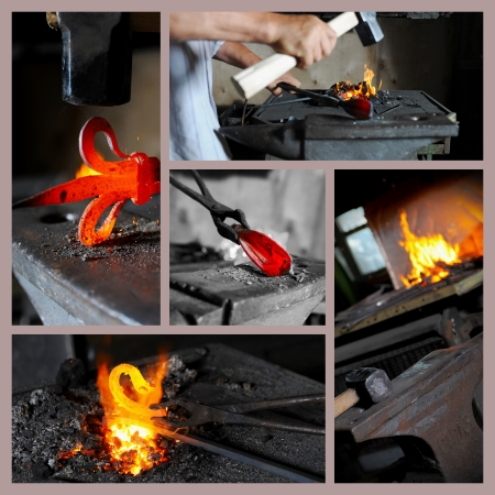 forge: Incandescent element in the smithy Stock Photo