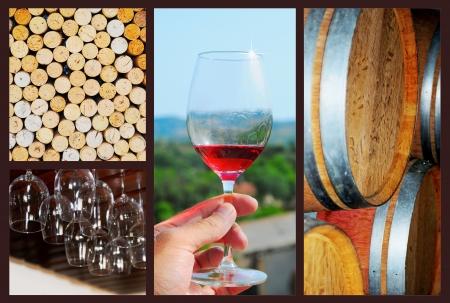 Wine collage 版權商用圖片 - 19420258
