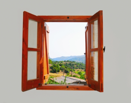 mountain views from the window Stockfoto
