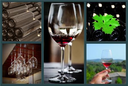 Wine collage  photo