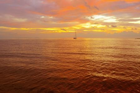 dawning: Beautiful sunset Stock Photo