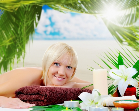 Woman in a spa salon photo