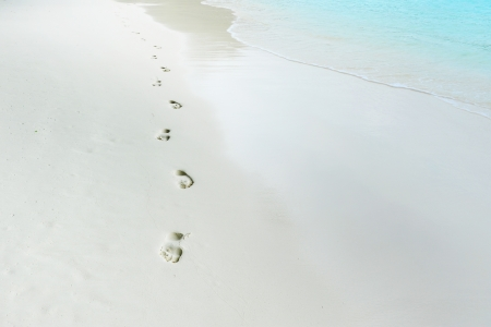 trail barefoot feet in the sand photo