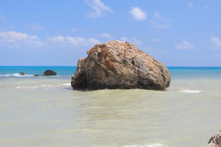 afrodite: Sea Rock luogo di nascita di Afrodite Archivio Fotografico